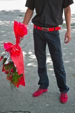 Frank Ward: Boy with Flowers, Tashkent, Uzbekistan, 2010